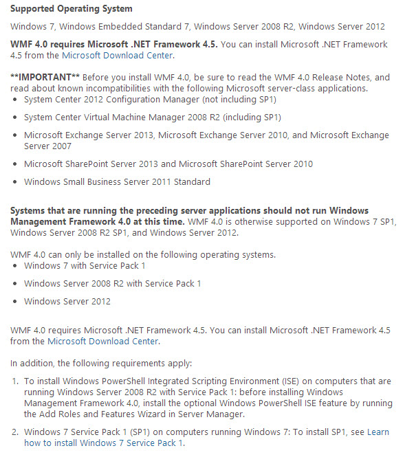 Windows Management Framework 4.0