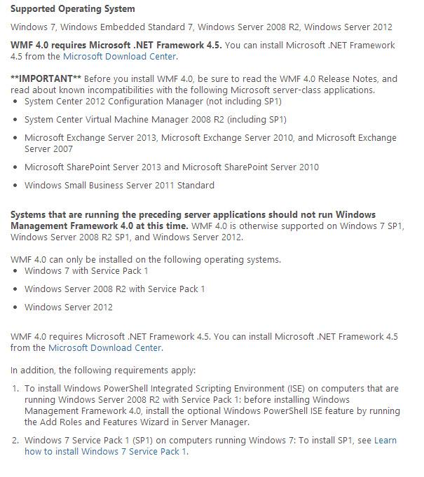 Windows Management Framework 4.0