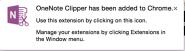OneNoteClipper ChromeExtension