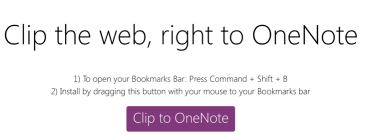 OneNoteClipper SafariInstallationMethod